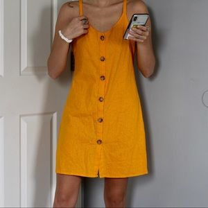 Yellow Button-Up Dress